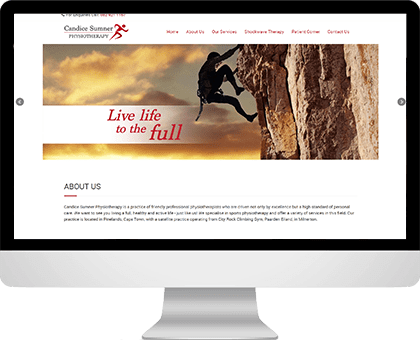 Candice Sumner | Physiotherapy website design