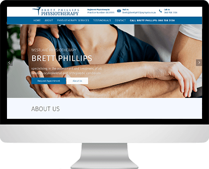 Brett Phillips | Physiotherapy website design